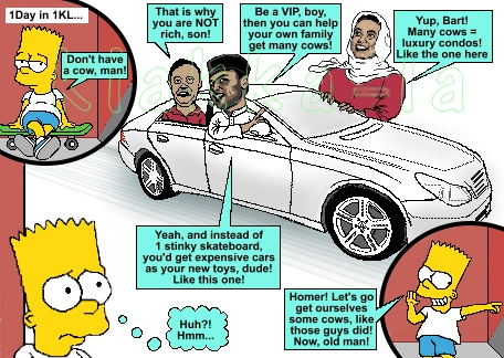 Kelakar 1Malaysia: Bart Simpson Pun Suka Lembu? (Funny 1Malaysia: Bart Simpson Says Don't Have A Cow, Man!) www.klakka-la.blogspot
