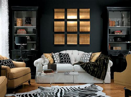 vignette design: Tuesday Inspiration: Dramatic Black Decor