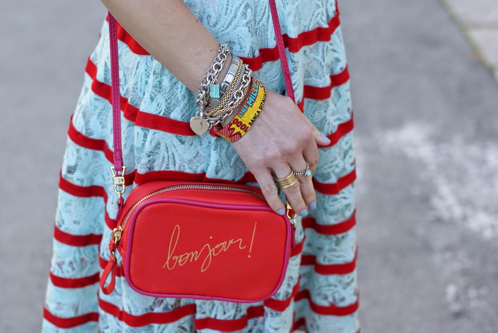Zara bonjour bag, millelire pop bracelet, Bvlgari bzero ring, Fashion and Cookies, fashion blogger