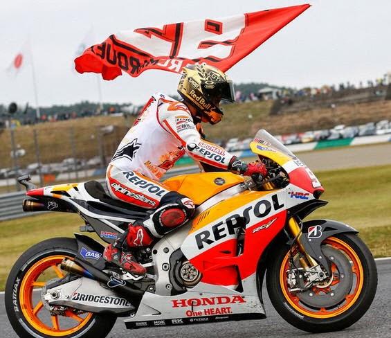 Kemenangan Marc Marquez di Motegi Jepang 2014