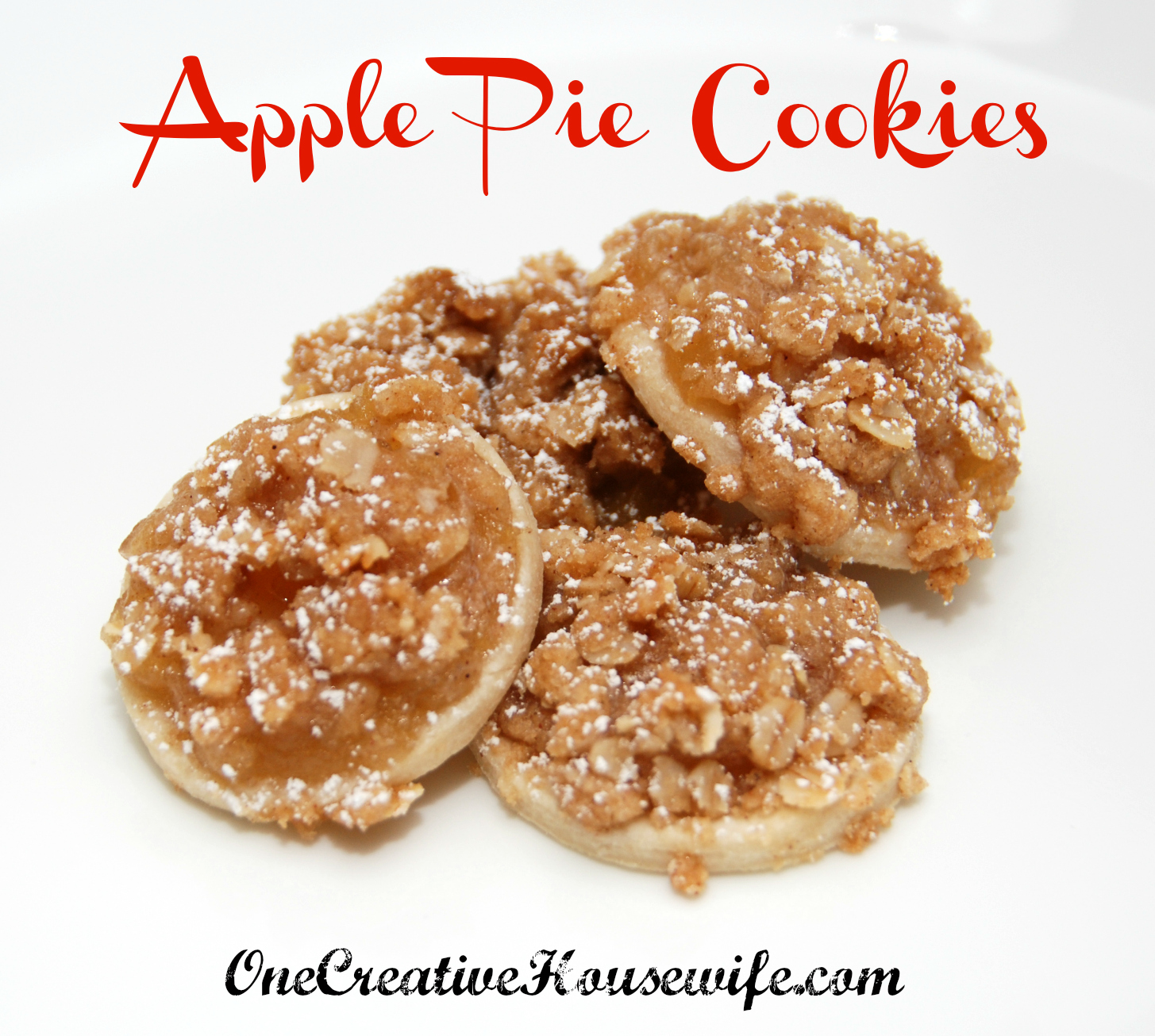One Creative Housewife: Apple Pie Cookies