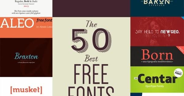 Las 50 mejores tipografías gratuitas de 2013