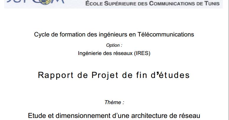 pdf  rapport de projet de fin d u00e9tudes  etude et