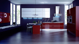 Purple and red Italian Kitchen