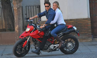 Tom Cruise in Ducati 1098 sport bike
