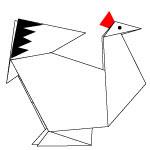 Origami Ayam Betina