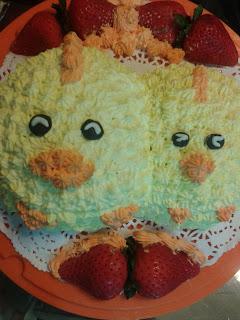 鷄仔蛋糕 twins chicken cake