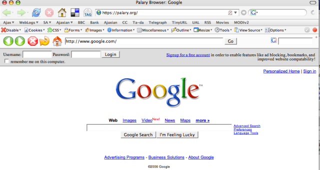 27. Palary Browser