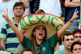 Foto cewek cantik fans Mexico