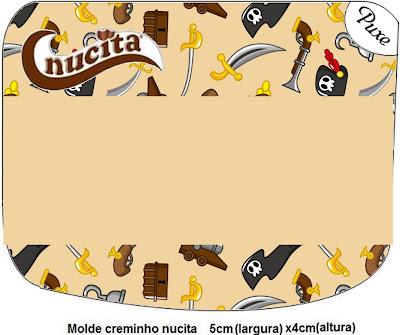 Etiquetas para fiestas de Piratas, para Nucita.