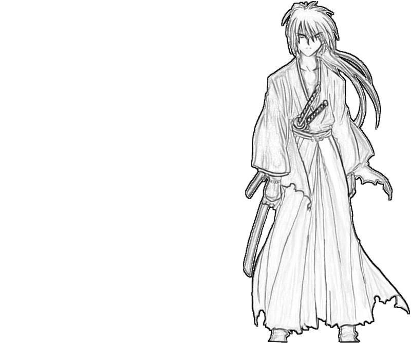 kenshin-himura-samurai-coloring-pages