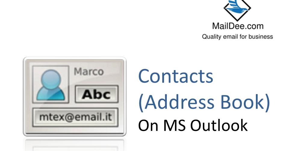 how to add contacts to address book in outlook 2013