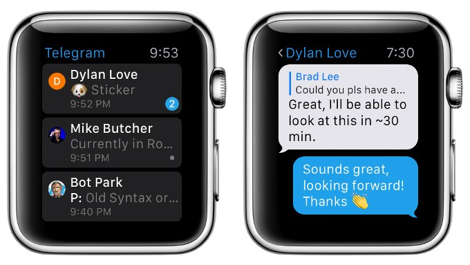Telegram 3.0 Da Soporte Al Apple Watch