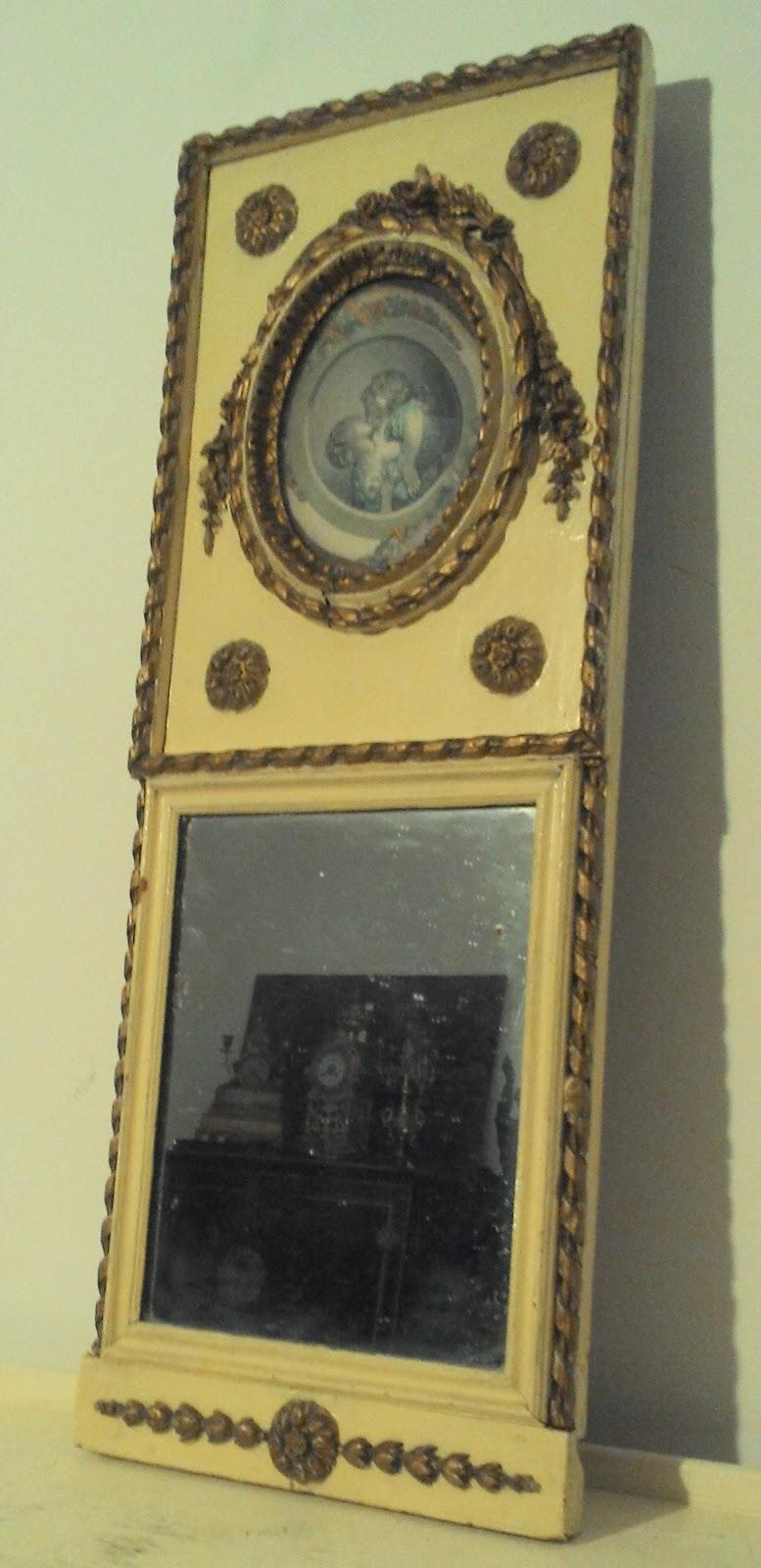 Trumeau ancien petit trumeau d co for Petit miroir sur pied ancien