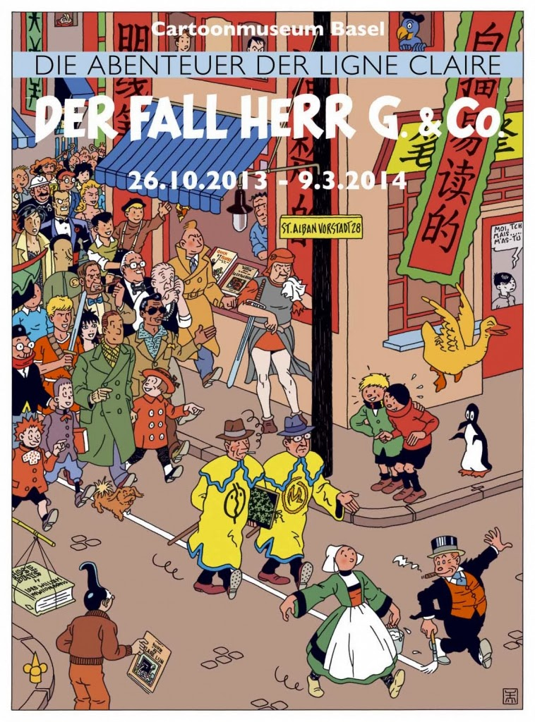 Cartoonmuseum basel der fall herr g and co festival poster