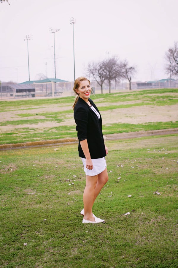 white_dress_black_blazer_thrifted