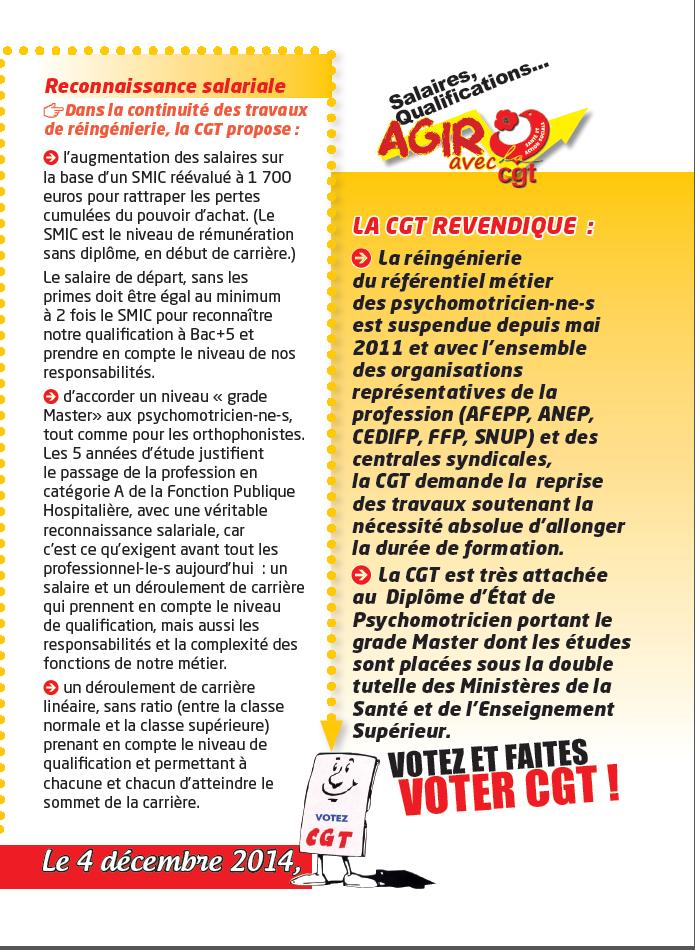 Usap cgt tract specifique psychomotricien - Grille salaire psychomotricien ...