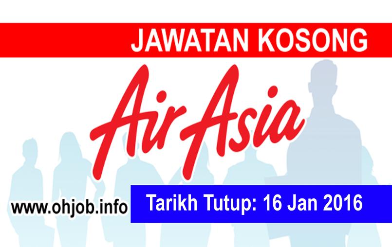 Jawatan Kerja Kosong AirAsia Berhad logo www.ohjob.info januari 2016