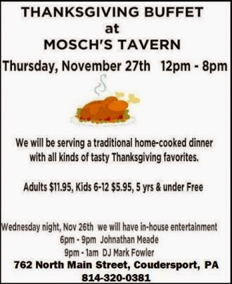 11-26/27 Mosch's Tavern, Coudersport