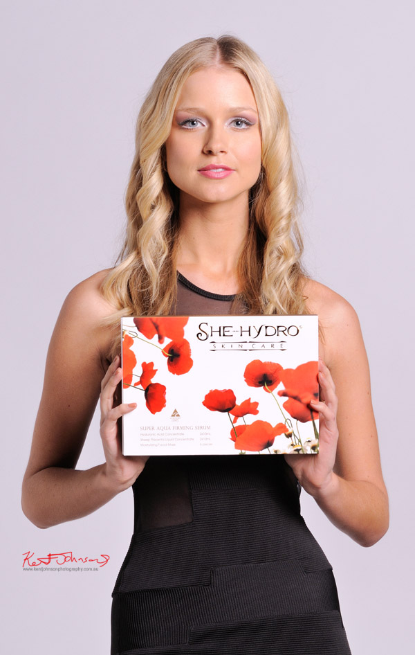 Commercial photography with Miss Universe Australia Renae Ayris - Skin Care - Beauty.
