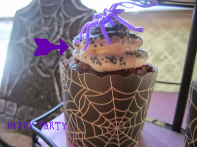 Cupcakes, Halloween, Spider party, Dessert table