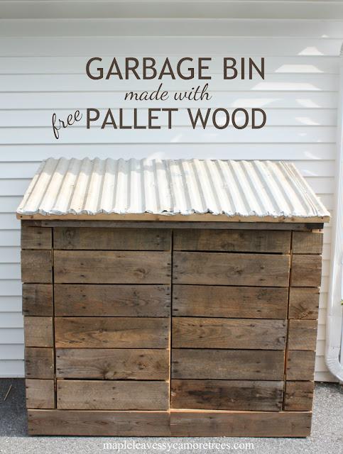 maple leaves sycamore trees diy garbage bin. Black Bedroom Furniture Sets. Home Design Ideas