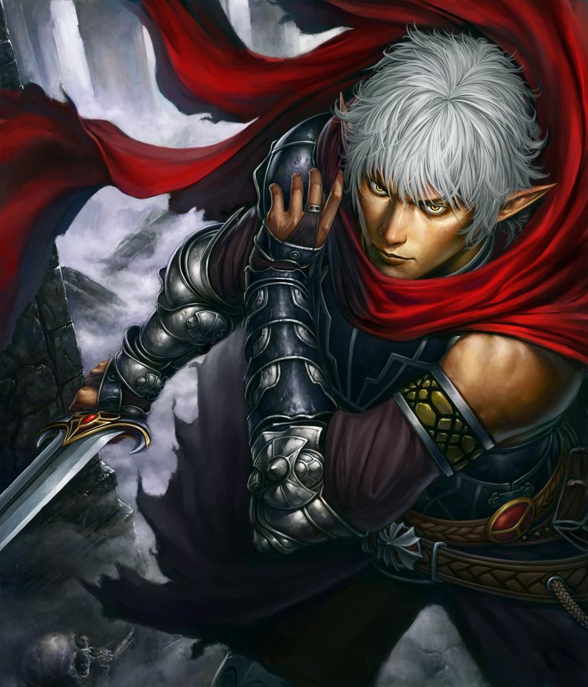 Elven Race Elf-warrior-with-sword-and-armor