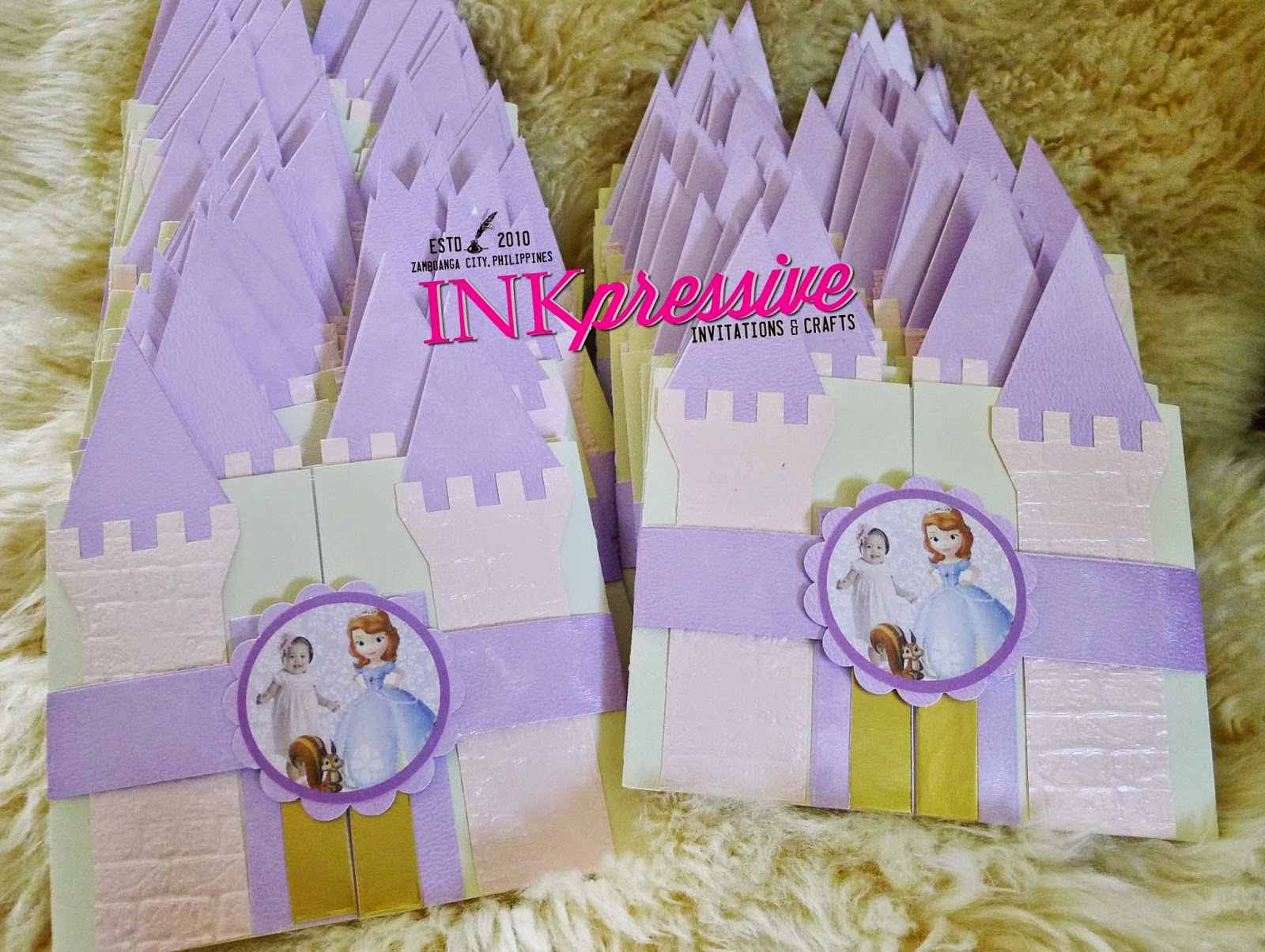 Princess Castle Pop Up Invitation & Princess Castle + Sofia + Medieval Castle | KIDDIE INVITATIONS
