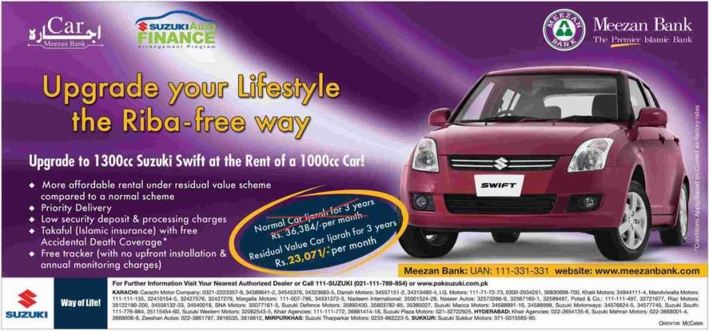 Suzuki Car Installment Plan