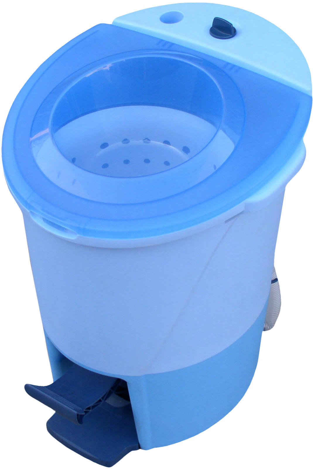 pedal powered washing machine and spin dryer