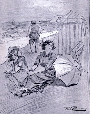 Cartoon on the beach 1912