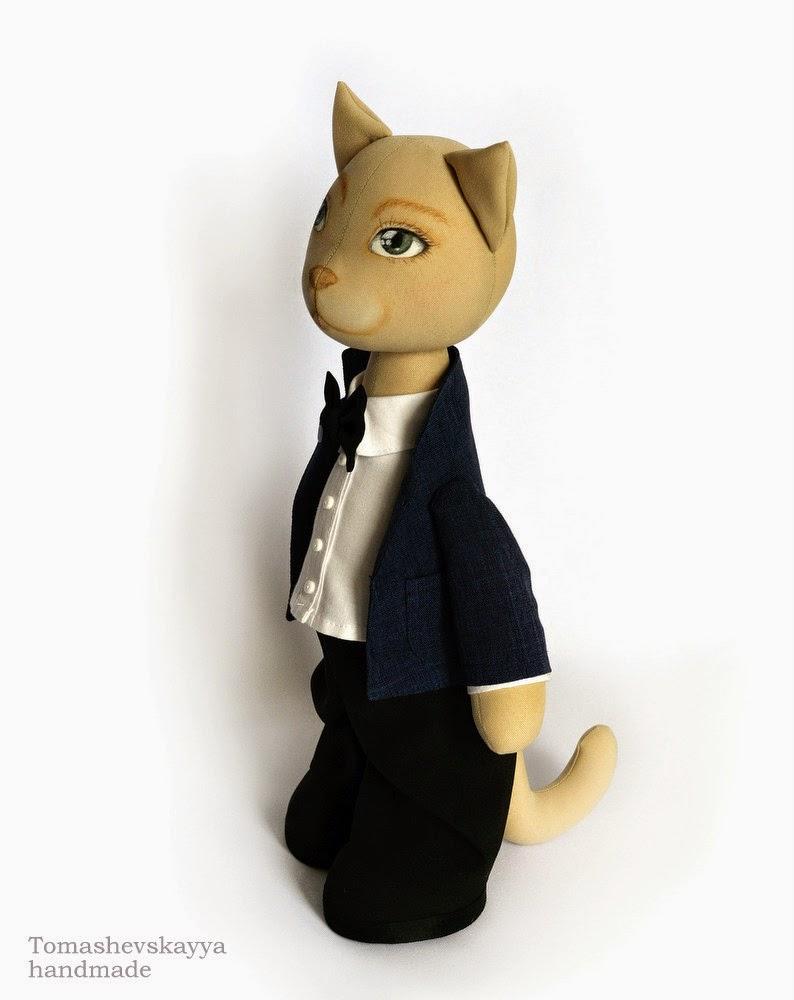 Интерьерная игрушка кот.