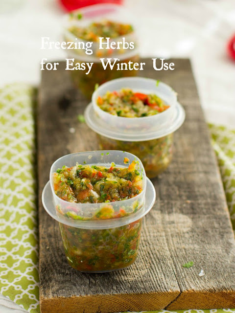 Freezing Herbs for Easy Winter Use
