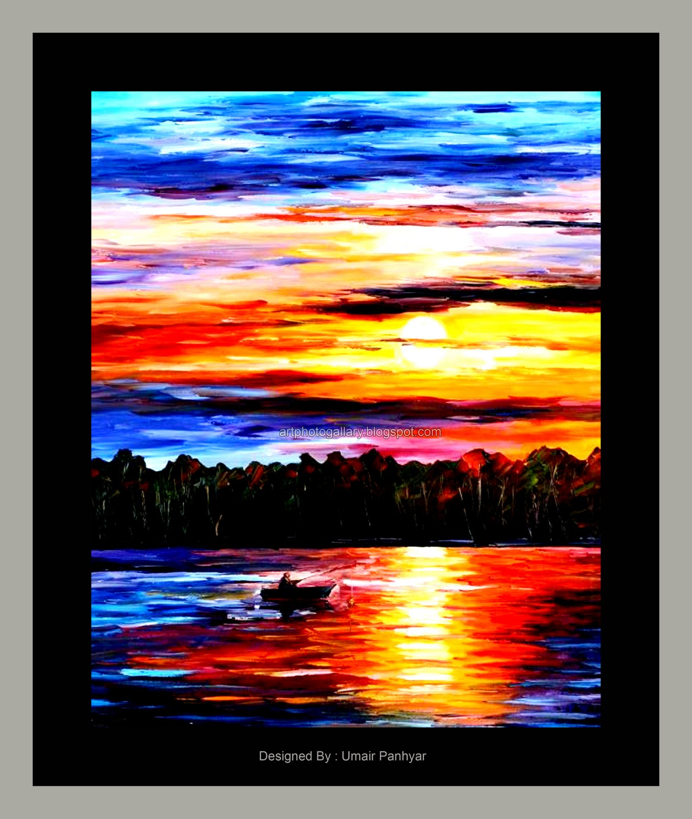 Sunset Painting Colorful