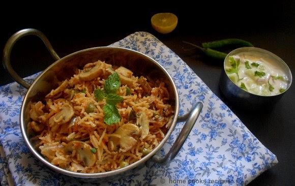 Rak S Kitchen Mushroom Biryani