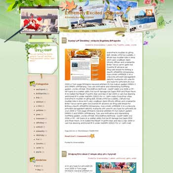 Extremely Excited in Canada template blog from wordpress. travel blog template. template travel for blog