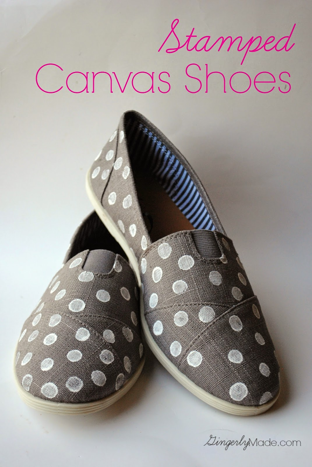 Stamped Canvas Shoes