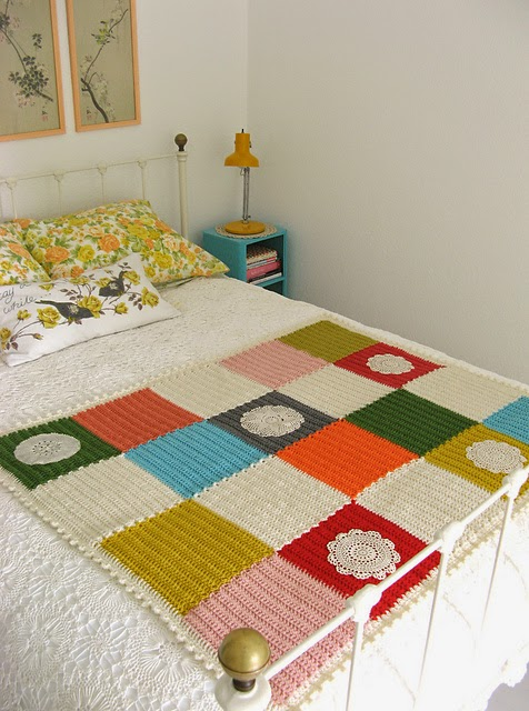 free crochet pattern patchwork blanket