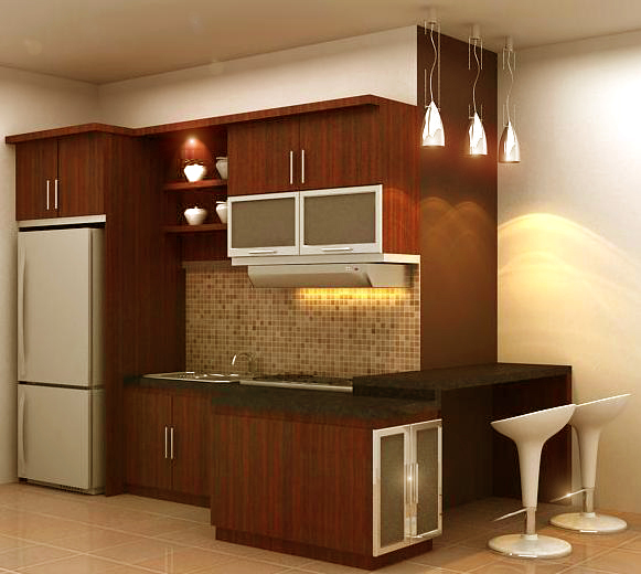 Kitchen Set Warna Coklat: Kitchen Set & Wardrobe: Juli 2012
