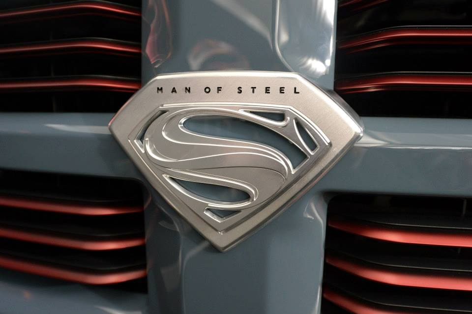 On the Road With Zoom: Man of Steel Ram Pickup Truck Promotes Superman ...