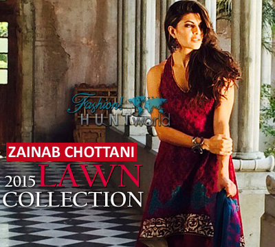 Zainab Chottani Lawn Collection 2015 Featuring By Jacqueline Fernandez