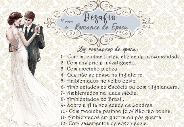 Desafio #RomancedeÉpoca 12Meses