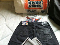 special brand new evisu leather size 32