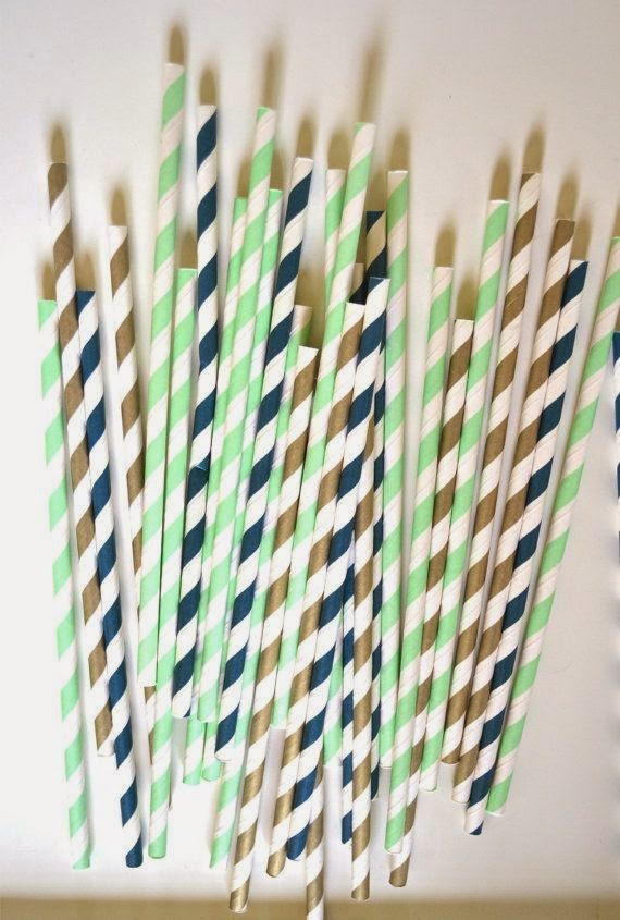 https://www.etsy.com/listing/162016514/mint-navy-and-gold-paper-straws-wedding