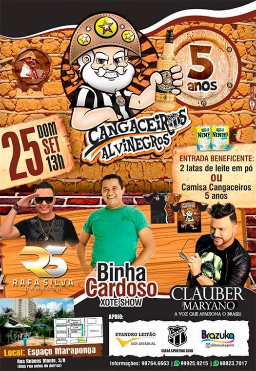 Cartaz Oficial Festa Cangaceiros 5 anos.