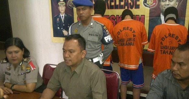 Komplotan Pencuri Motor dan Penadah di Lampung Digulung