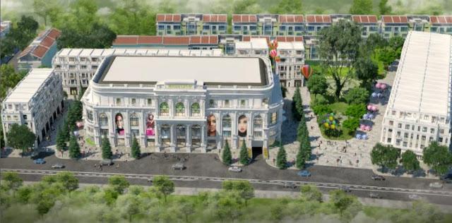 Phối cảnh tổng thể khu Trung tâm thương mại Vincom Shophouse - Hải Phòng
