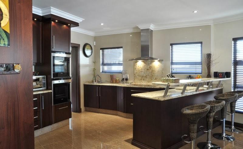 Dapur minimalis elegan dengan warna coklat kitchen set for Kitchen set bogor