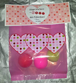 valentines day bouncy ball goodie bag