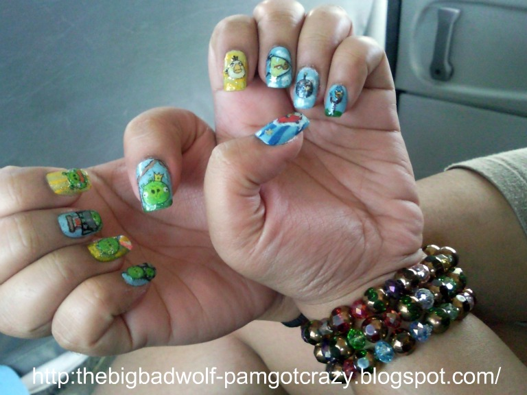 The Big Bad Wolf: Angry Birds Nail Art
